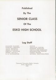 Page 6, 1956 Edition, Lincoln High School - Lincoln Log Yearbook (Esko, MN) online yearbook collection