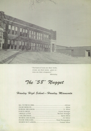 Page 5, 1958 Edition, Hawley High School - Nugget Yearbook (Hawley, MN) online yearbook collection