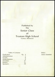 Page 5, 1956 Edition, Truman High School - Truhiscan Yearbook (Truman, MN) online yearbook collection