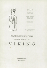 Page 5, 1949 Edition, Ada High School - Viking Yearbook (Ada, MN) online yearbook collection