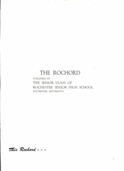Page 5, 1950 Edition, Rochester High School - Rochord Yearbook (Rochester, MN) online yearbook collection