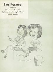 Page 5, 1951 Edition, Rochester High School - Rochord Yearbook (Rochester, MN) online yearbook collection