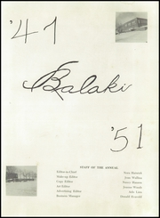Page 5, 1951 Edition, Battle Lake High School - Balaki Yearbook (Battle Lake, MN) online yearbook collection