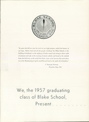 Page 5, 1957 Edition, Blake School - Call O Pan Yearbook (Hopkins, MN) online yearbook collection