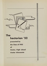Page 5, 1952 Edition, Hector High School - Hectorian Yearbook (Hector, MN) online yearbook collection