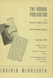Page 7, 1938 Edition, Roosevelt High School - Rohian Yearbook (Virginia, MN) online yearbook collection