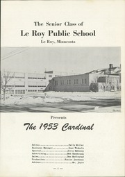 Page 5, 1953 Edition, Leroy Ostrander High School - Leroyan Yearbook (Le Roy, MN) online yearbook collection