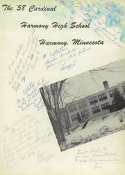 Page 5, 1958 Edition, Harmony High School - Cardinal Yearbook (Harmony, MN) online yearbook collection
