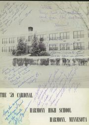 Page 5, 1959 Edition, Harmony High School - Cardinal Yearbook (Harmony, MN) online yearbook collection