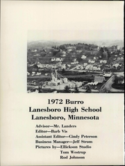 Page 8, 1972 Edition, Lanesboro High School - Burro Yearbook (Lanesboro, MN) online yearbook collection