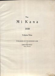 Page 5, 1930 Edition, Gilbert High School - Mi Kana Yearbook (Gilbert, MN) online yearbook collection