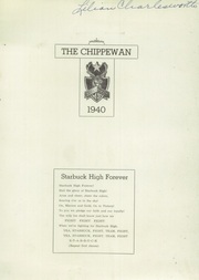 Page 3, 1940 Edition, Starbuck High School - Chippewan Yearbook (Starbuck, MN) online yearbook collection