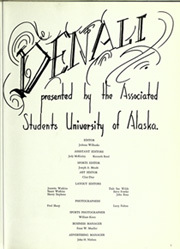 Page 5, 1961 Edition, University of Alaska Fairbanks - Denali Yearbook (Fairbanks, AK) online yearbook collection