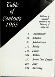 Page 7, 1965 Edition, University of Alaska Fairbanks - Denali Yearbook (Fairbanks, AK) online yearbook collection