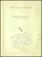 Page 5, 1950 Edition, Central High School - Scarlet Feather Yearbook (Red Wing, MN) online yearbook collection