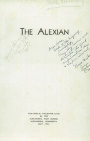 Page 5, 1934 Edition, Alexandria High School - Alexian Yearbook (Alexandria, MN) online yearbook collection