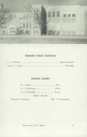 Page 5, 1946 Edition, Herman High School - Aggassiz Yearbook (Herman, MN) online yearbook collection