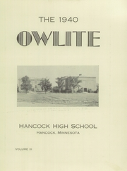 Page 7, 1940 Edition, Hancock High School - Owls Hoot Yearbook (Hancock, MN) online yearbook collection