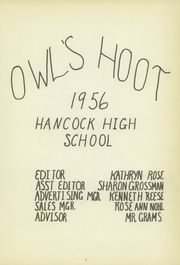 Page 5, 1956 Edition, Hancock High School - Owls Hoot Yearbook (Hancock, MN) online yearbook collection