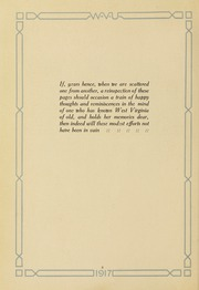 Page 16, 1917 Edition, West Virginia University - Monticola Yearbook (Morgantown, WV) online yearbook collection