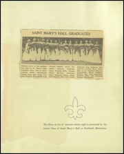 Page 5, 1938 Edition, St Marys Hall - Fleur de Lis Yearbook (Faribault, MN) online yearbook collection