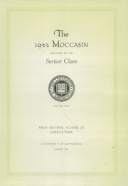 Page 7, 1922 Edition, West Central School of Agriculture - Moccasin Yearbook (Morris, MN) online yearbook collection