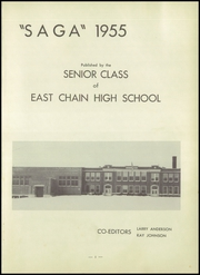 Page 5, 1955 Edition, East Chain High School - Saga Yearbook (East Chain, MN) online yearbook collection