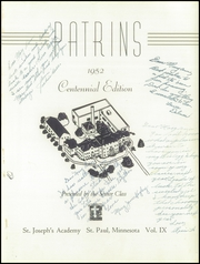 Page 5, 1952 Edition, St Josephs Academy - Patrins Yearbook (St Paul, MN) online yearbook collection