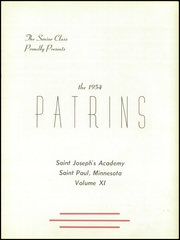 Page 7, 1954 Edition, St Josephs Academy - Patrins Yearbook (St Paul, MN) online yearbook collection