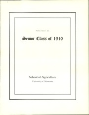Page 13, 1910 Edition, University of Minnesota School of Agriculture - Yearbook (Minneapolis, MN) online yearbook collection