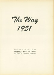 Page 5, 1951 Edition, Apostolic Bible Institute - Way Yearbook (St Paul, MN) online yearbook collection