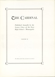 Page 7, 1917 Edition, East High School - Cardinal Yearbook (Minneapolis, MN) online yearbook collection