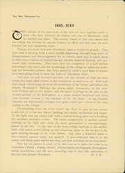 Page 11, 1910 Edition, Macalester College - Quid Nunc Yearbook (St Paul, MN) online yearbook collection