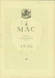 Page 7, 1926 Edition, Macalester College - Quid Nunc Yearbook (St Paul, MN) online yearbook collection