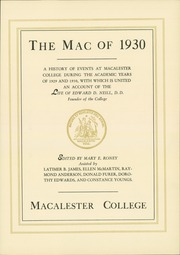 Page 9, 1930 Edition, Macalester College - Quid Nunc Yearbook (St Paul, MN) online yearbook collection