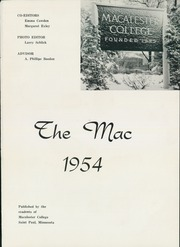 Page 5, 1954 Edition, Macalester College - Quid Nunc Yearbook (St Paul, MN) online yearbook collection