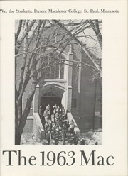 Page 5, 1963 Edition, Macalester College - Quid Nunc Yearbook (St Paul, MN) online yearbook collection