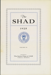 Page 9, 1925 Edition, Shattuck School - Shad Yearbook (Faribault, MN) online yearbook collection