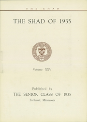 Page 7, 1935 Edition, Shattuck School - Shad Yearbook (Faribault, MN) online yearbook collection