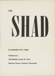 Page 7, 1953 Edition, Shattuck School - Shad Yearbook (Faribault, MN) online yearbook collection