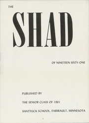 Page 7, 1961 Edition, Shattuck School - Shad Yearbook (Faribault, MN) online yearbook collection