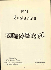 Page 9, 1951 Edition, Gustavus Adolphus College - Gustavian Yearbook (St Peter, MN) online yearbook collection