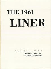 Page 5, 1961 Edition, Hamline University - Liner Yearbook (St Paul, MN) online yearbook collection