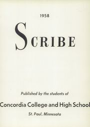 Page 5, 1958 Edition, Concordia High School - Scribe Yearbook (St Paul, MN) online yearbook collection
