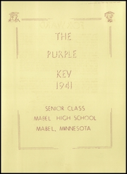Page 5, 1941 Edition, Mabel High School - Purple Key Yearbook (Mabel, MN) online yearbook collection