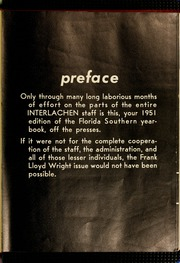 Page 5, 1951 Edition, Florida Southern College - Interlachen Yearbook (Lakeland, FL) online yearbook collection