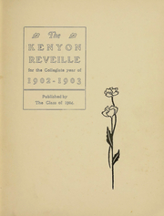 Page 3, 1903 Edition, Kenyon College - Reveille Yearbook (Gambier, OH) online yearbook collection