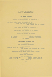 Page 14, 1906 Edition, Kenyon College - Reveille Yearbook (Gambier, OH) online yearbook collection