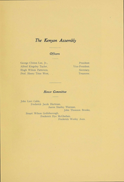 Page 64, 1906 Edition, Kenyon College - Reveille Yearbook (Gambier, OH) online yearbook collection