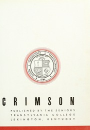 Page 7, 1936 Edition, Transylvania University - Crimson Yearbook (Lexington, KY) online yearbook collection